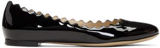 Chloé Black Patent Lauren Ballerina Flats
