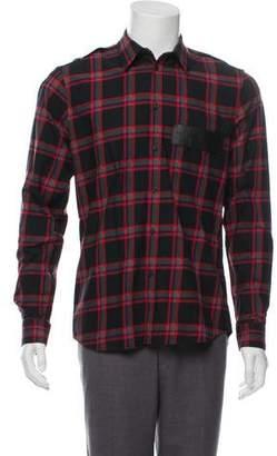 Givenchy Plaid Casual Shirt