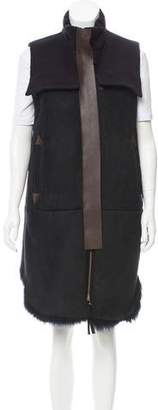 Marni Leather-Trimmed Shearling Vest