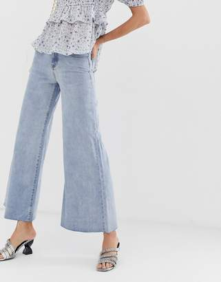 Lost Ink wide leg jeans in vintage wash