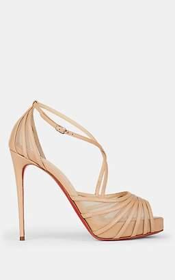 Christian Louboutin Women's Filamenta Leather & Mesh Platform Sandals - Version Nude