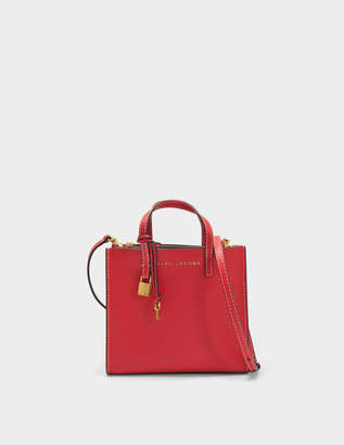 Marc Jacobs The Mini Grind Tote Bag in Red Cow Leather