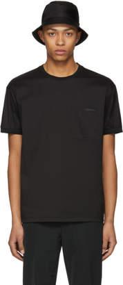 Prada Black Poplin Tech T-Shirt