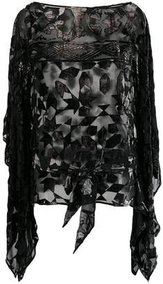 Roberto Cavalli sheer embroidered blouse