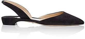Paul Andrew Women's Rhea Suede Slingback Flats - 996 Gravel