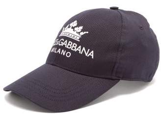 Dolce & Gabbana Logo And Crown Cap - Mens - Navy