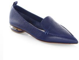 Nicholas Kirkwood Beya Leather Loafers $475 thestylecure.com
