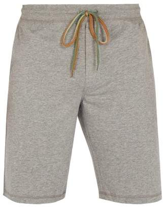 Paul Smith Mid Rise Cotton Jersey Track Shorts - Mens - Grey