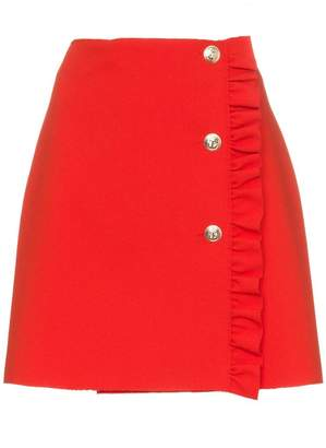 MSGM frill trim mini skirt