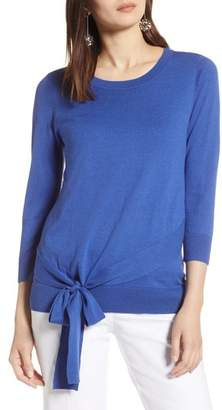 Halogen Pima Cotton Blend Tie Sweater
