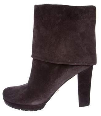 Prada Suede High Heel Boots