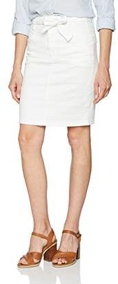Comma Women's 81.805.78.7574 Skirt, (White 0100)