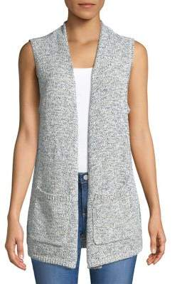 Jones New York Knit Open Front Vest
