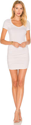 Michael Stars Ruched T Shirt Dress in Cream $88 thestylecure.com