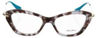 Miu Miu Resin Cat-Eye Eyeglasses