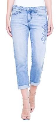 Co Liverpool Jeans Cameron Embroidered Crop Boyfriend Jeans (Skyline) (Regular & Petite)