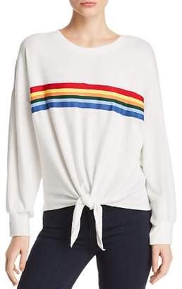 Vintage Havana Rainbow-Stripe Sweatshirt