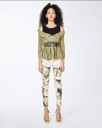 Nicole Miller Habotai Off The Shoulder Blouse