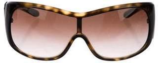 Prada Tortoiseshell Shield Sunglasses