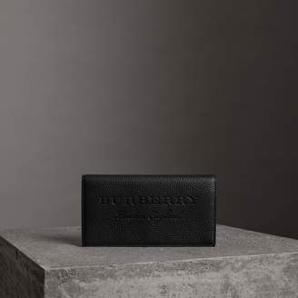 Burberry Embossed Leather Continental Wallet