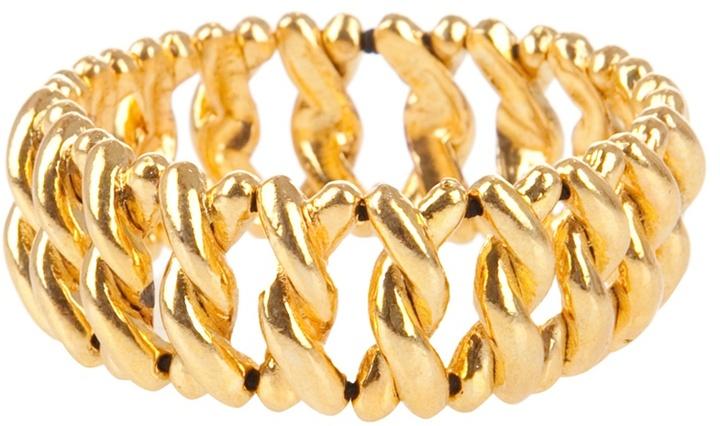 Philippe Audibert Gold-plated stretch bangle