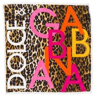 Dolce & Gabbana Silk Logo Scarf