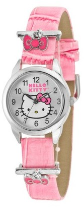 Hello Kitty Wristwatch with Accent Decorative Bows - Pink/Silver $16.99 thestylecure.com