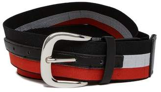 Steve Madden Striped Stretch Belt