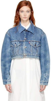 RE/DONE Indigo Levis Edition Cropped Denim Jacket