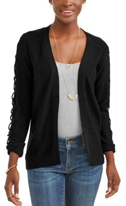 What's Next Women's Lattice Sleeve Cardigan