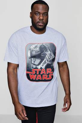 boohoo Big And Tall Star Wars Phasma Retro License T-Shirt