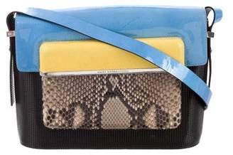 Mary Katrantzou Python-Trimmed Medium MVK Bag