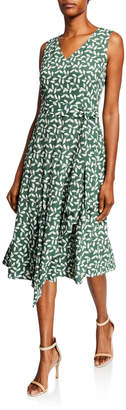 Lafayette 148 New York Telson Leaf-Print Dress