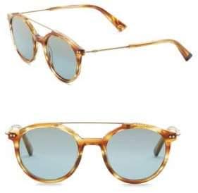Web 50MM Round Sunglasses