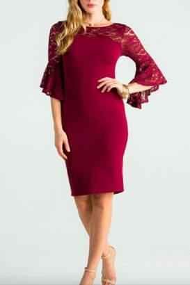 Scala La The Bell Dress-Burgundy