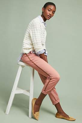 Anthropologie Chino By Relaxed-Striped Chino Trousers