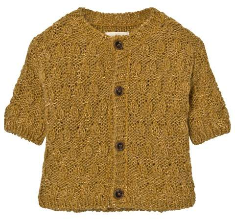 Yellow Octopus Knitted Cardigan