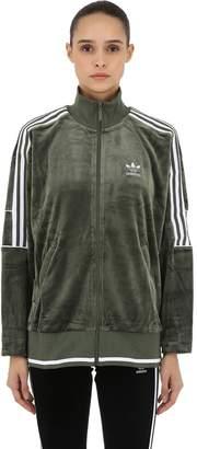 adidas Oversized Zip-up Velvet Track Jacket