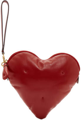 Anya Hindmarch Red Chubby Heart Clutch