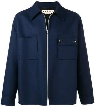 Marni zip up shirt jacket