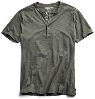 Todd Snyder Made in L.A. Short Sleeve Henley in Olive