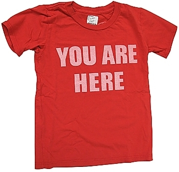 Worn Free - Kid's Red You Are Here Tee