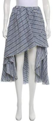 Caroline Constas Striped Midi Skirt