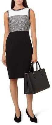 Hobbs London Robyn Tweed-Detail Sheath Dress