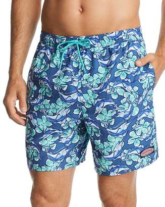Vineyard Vines Marlin & Floral-Print Swim Trunks