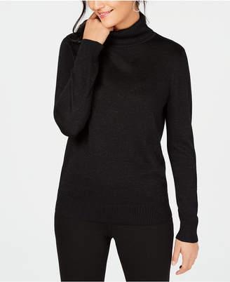JM Collection Lurex Turtleneck Sweater