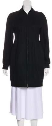 Miu Miu Wool-Blend Zip-Up Coat