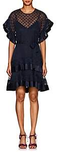 Zimmermann Women's Polka Dot Fil Coupé Dress-Navy