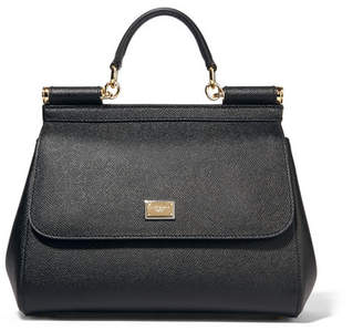 Dolce & Gabbana - Sicily Medium Textured-leather Tote - Black $1,695 thestylecure.com