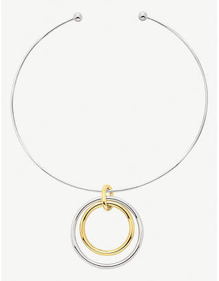 Folli Follie Metal Chic yellow gold-plated and silver choker necklace